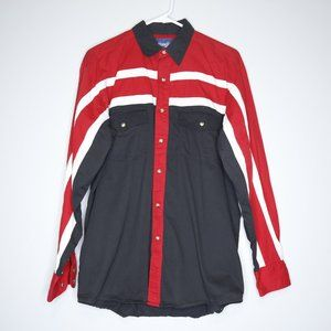 Wrangler Black/Red Snap Button Western Shirt